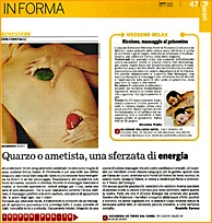 massaggio energetico con i cristalli, crystal energy nassage
